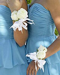 Wrist Corsage with white roses