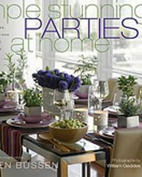 Autographed copy of Karen Bussen's SIMPLE STUNNING PARTIES AT HOME